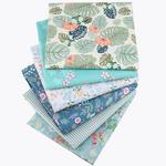 Lot de 6 carrés de tissus - Coton - Imprimés Fleurs doux pour masques