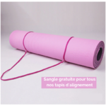 Passion Yoga - Tapis de Yoga Ecologique - Alignement corporel - Aide au positionnement - sangles gratuites