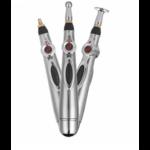 ACUPEN - Stylo USB rechargeable acupuncture + 3 têtes de massage + Gels conducteurs