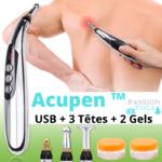 Passion Yoga - ACUPEN - Stylo USB acupuncture + Gels conducteurs - Soulagez vos douleurs