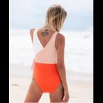 Passion Yoga - Monokini Patchwork avec ceinture - 2 couleurs - S