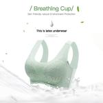 Brassière en Latex 5D - Anti-affaissement - Sans couture - Sans armatures - Sans fil vert