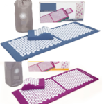 Grand tapis et coussin acupression acupuncture rose-2