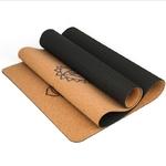 Passion yoga Tapis de Yoga - Liège naturel - Ligne de positionnement