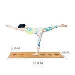 Tapis de Yoga - Liège naturel - Ligne de positionnement meditation