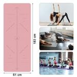 Tapis de Yoga Léger - Ligne de Position - Recto - Verso 6 mm - Passion yoga
