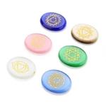 Passion Yoga 7 Pierres de Chakra Gravées - Agate de Cristal naturelle - Protection - méditation
