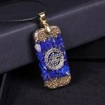 Pendentif Amulette Mystérieuse - Collier en Lapis lazuli - Pour Stimuler les affaires commerciales