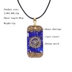 Amulette Mystérieuse - Collier en Lapis lazuli - Pour Stimuler les affaires