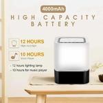 Lampe LED Haut-Parleur Bluetooth 48 couleurs