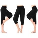 Pantalon court de yoga ou taichi - 9 couleurs au choix - M au 3XL - noir
