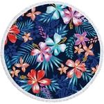 Serviette de plage - Tapis de méditation - 150 CM - Motifs Jungle Bleu - 16 Modèles au choix