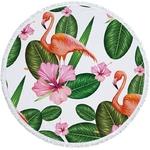 Serviette de plage - Tapis de méditation - 150 CM - Motifs Jungle - vacances