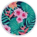 Serviette de plage - Tapis de méditation - 150 CM - Motifs Jungle - tropiques