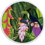 Serviette de plage - Tapis de méditation - 150 CM - Motifs Jungle - Tropical