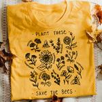 T-Shirt imprimé zen - Sauvons les Abeilles- jaune - S au 3XL