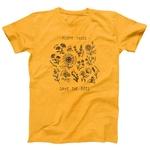 T-Shirt imprimé zen - Sauvons les Abeilles- jaune - taille XXXL