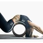Passion Yoga - Roue de Yoga - Bois de Chêne - Fleur de Lotus - 33 CM