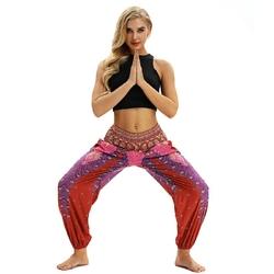 passion yoga - pantalon-ethnique-de-yoga-taille-unique-rouge