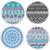 Serviette de méditation ou de plage ronde - Inspiration Mandala - 12 Modèles