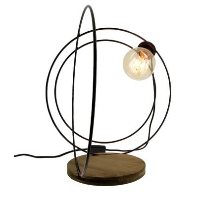 Black Orb Table Lamp