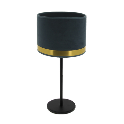 Art Deco Max Table Lamp - blue/laiton