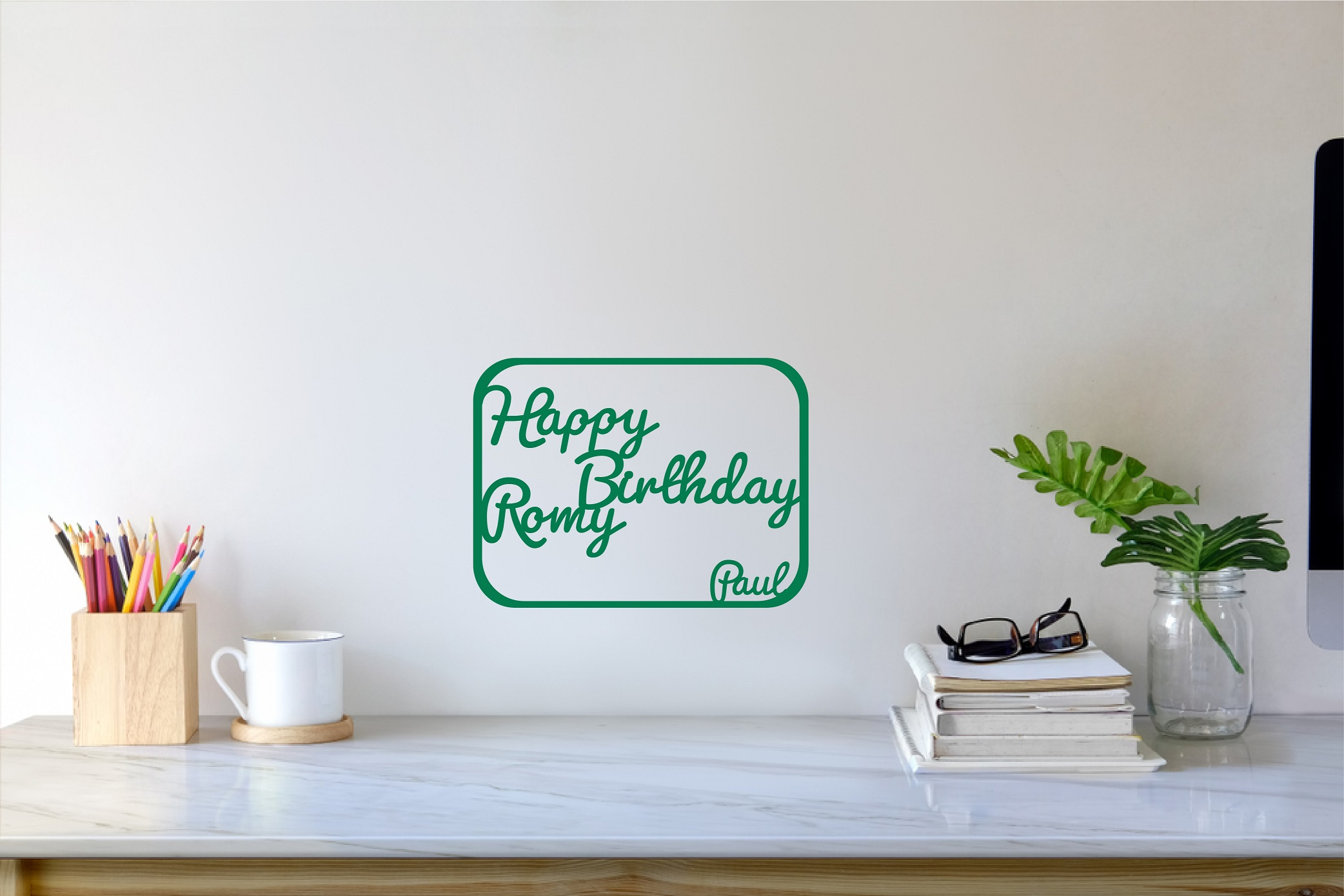 Happy Birthday + prénom à personnaliser