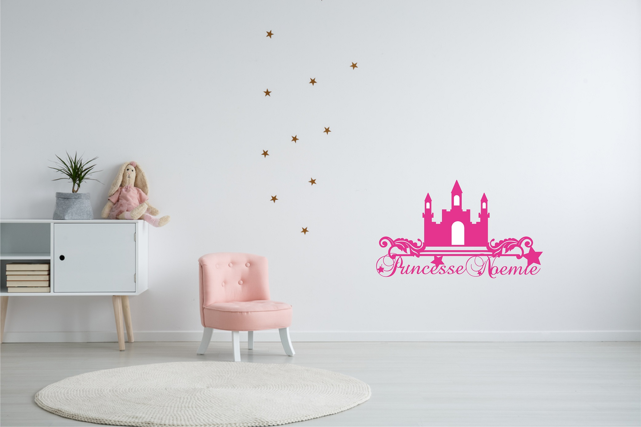 Château de princesse pour fille à personnaliser