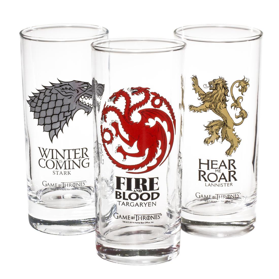 Set de verres Game of thrones