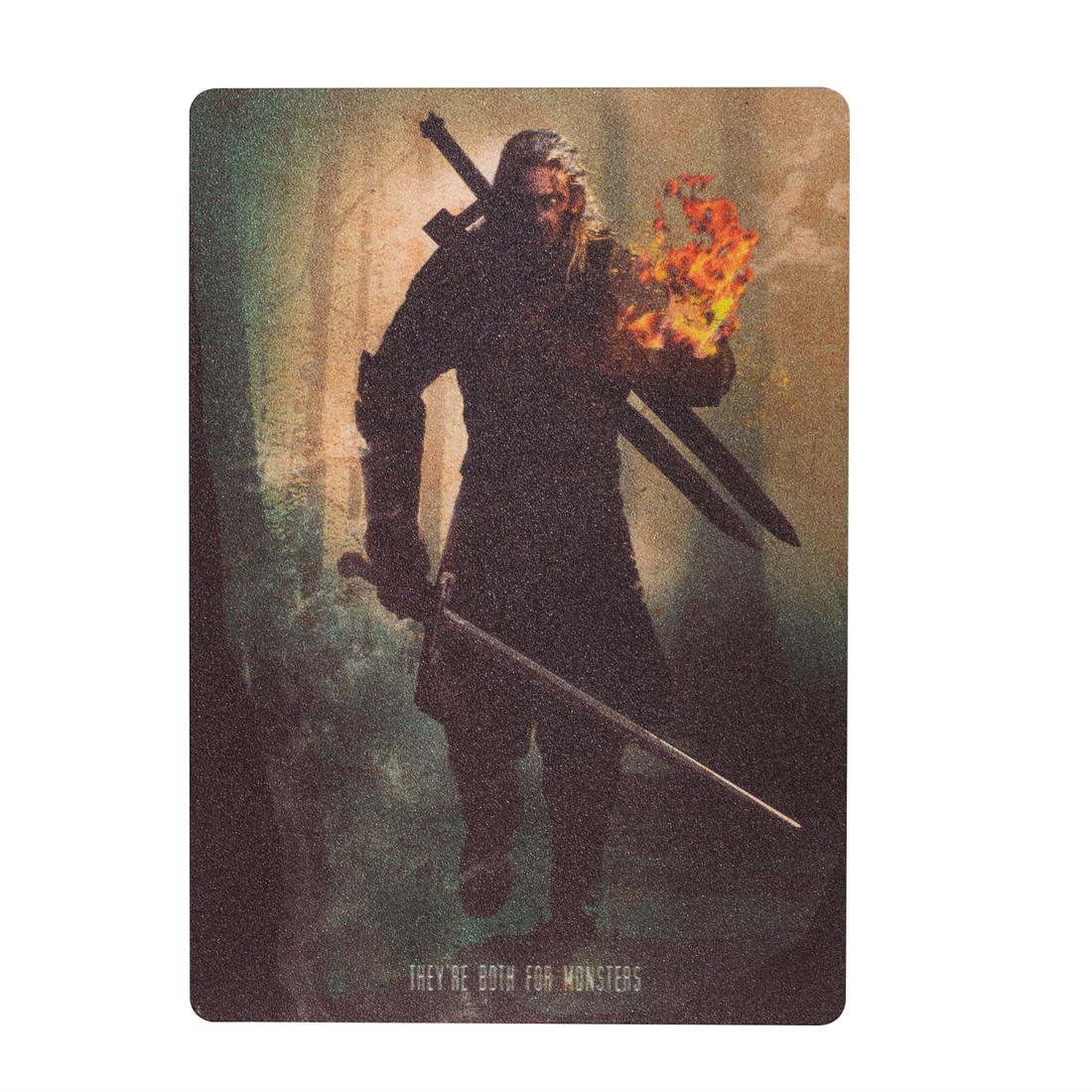 Mini affiche en métal The White Wolf The Witcher