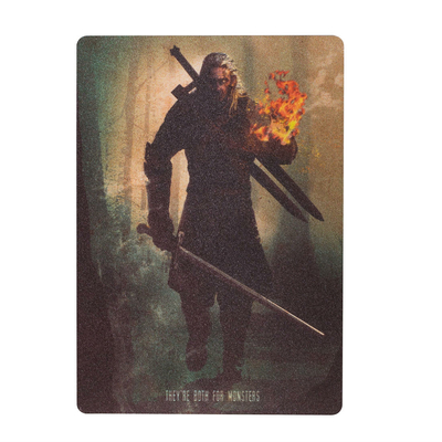 "Mini affiche en métal ""The White Wolf"" The Witcher"