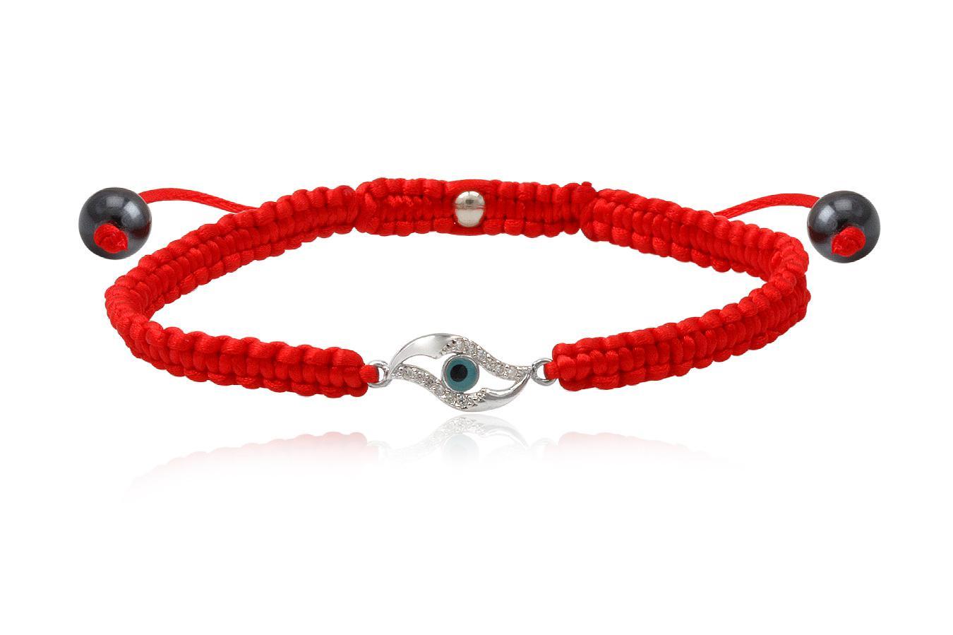 Bracelet macramé Œil de Fatma