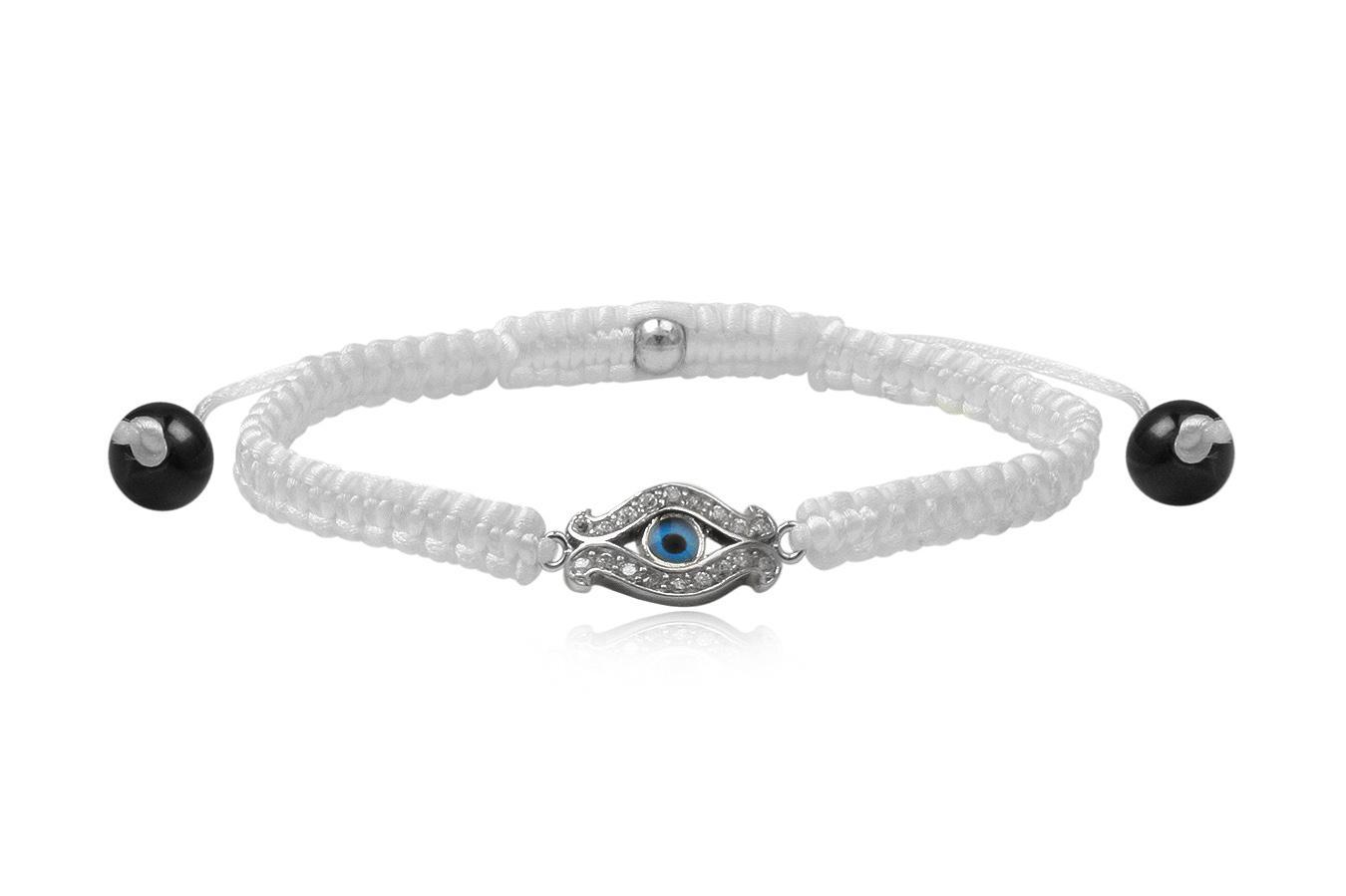 Bracelet macramé petit Œil bleu 2