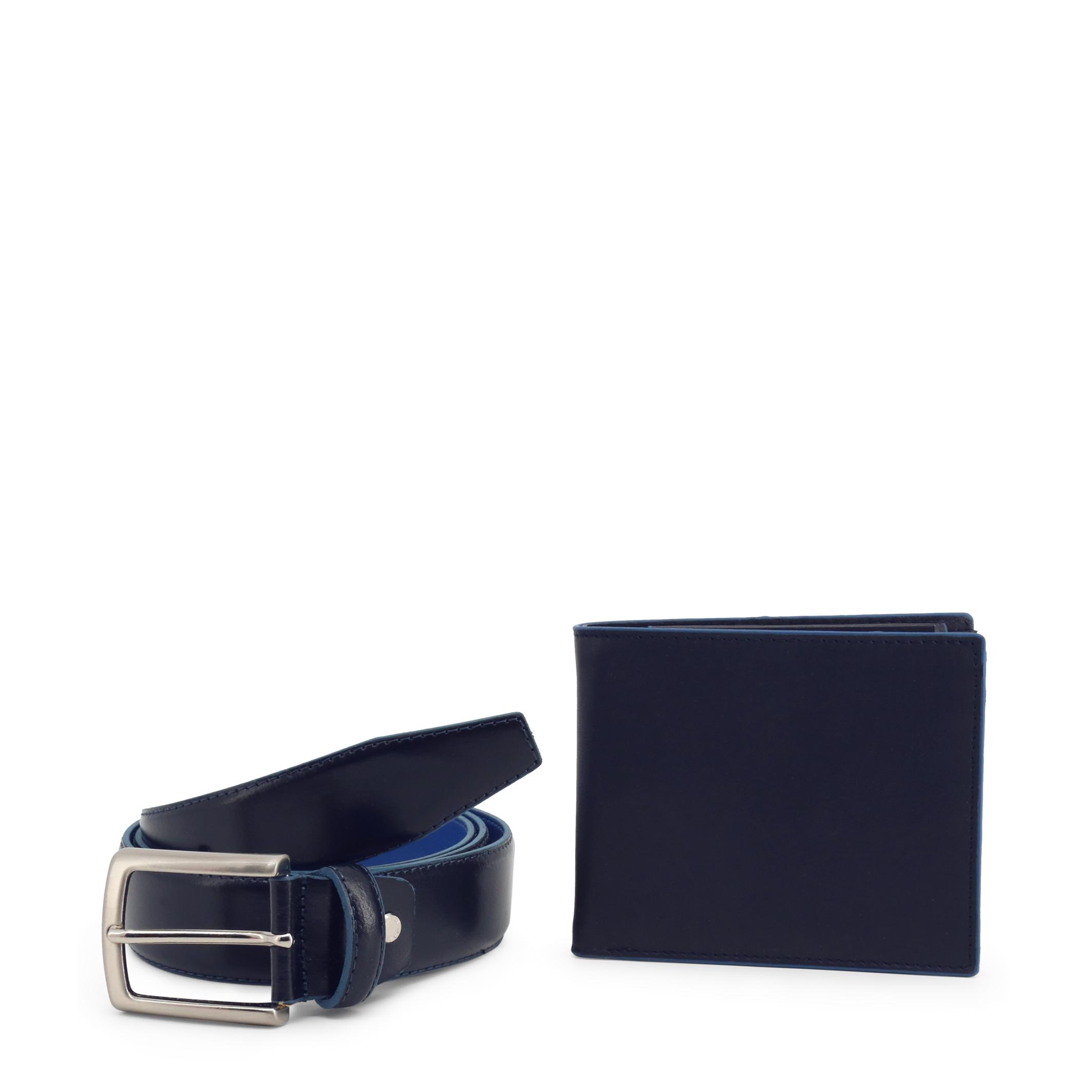 Ensemble ceinture portefeuille homme bleu