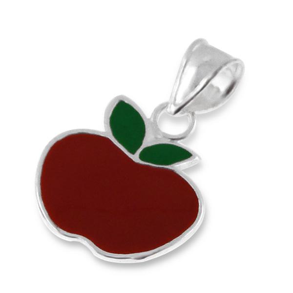 Pendentif Pomme rouge argent émaillé