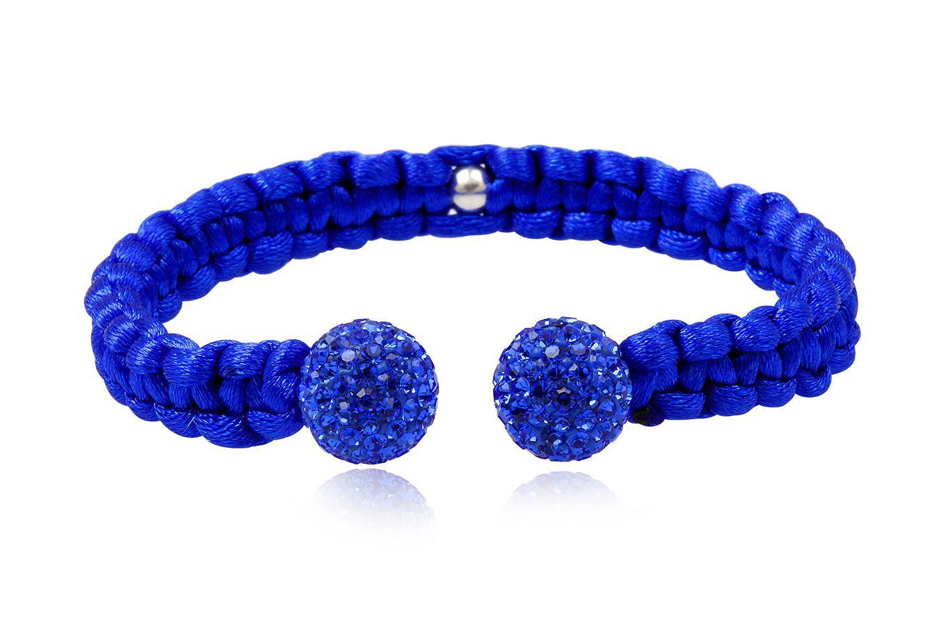 Bracelet Jonc soie colorée cristaux preciosa 10