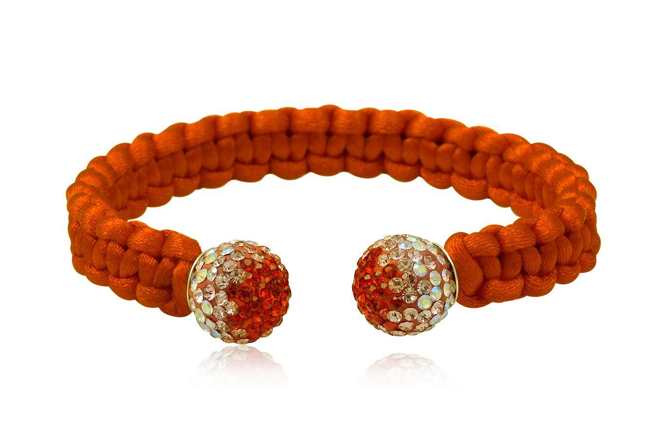 Bracelet Jonc soie colorée cristal preciosa 10