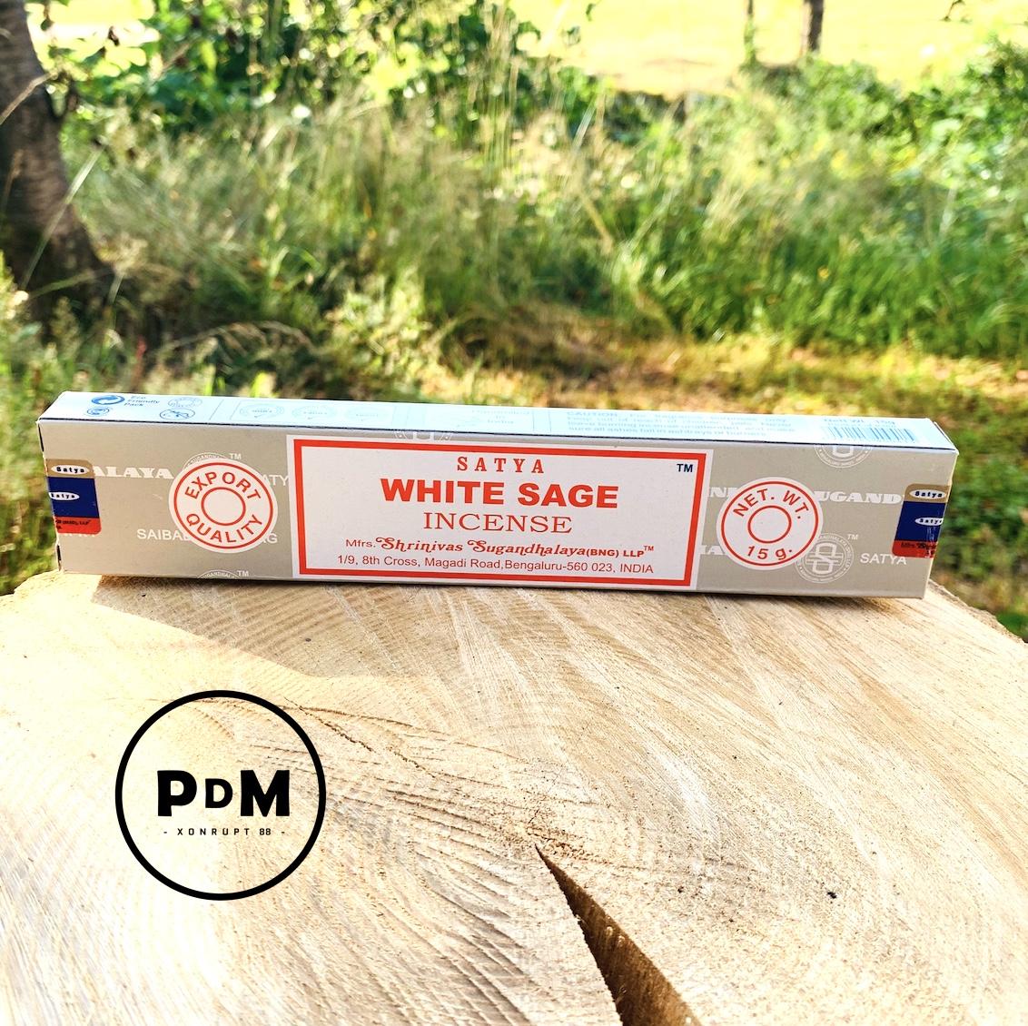Encens Satya White Sage Incense paquet de 15gr