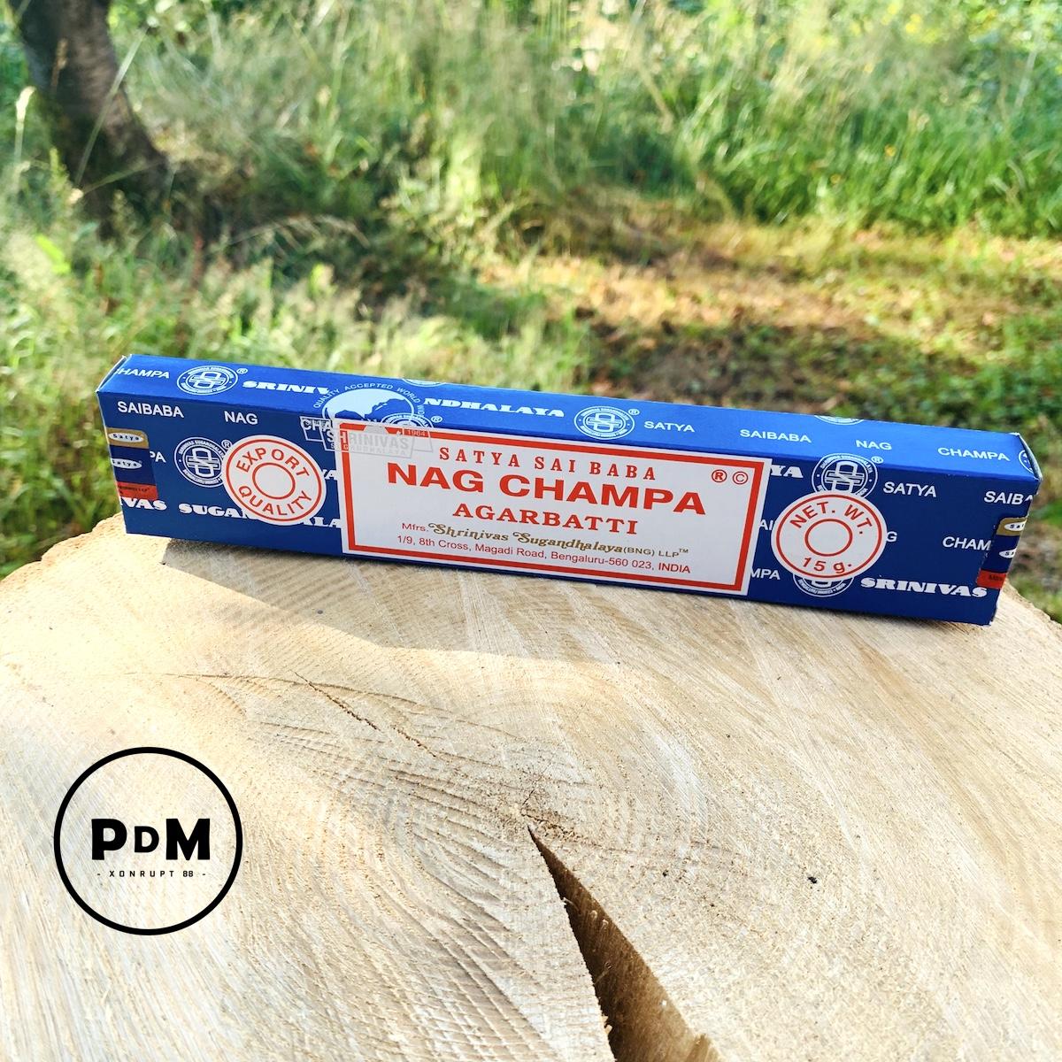 Encens Satya Sai Baba Nag Champa Argarbatti paquet de 15g