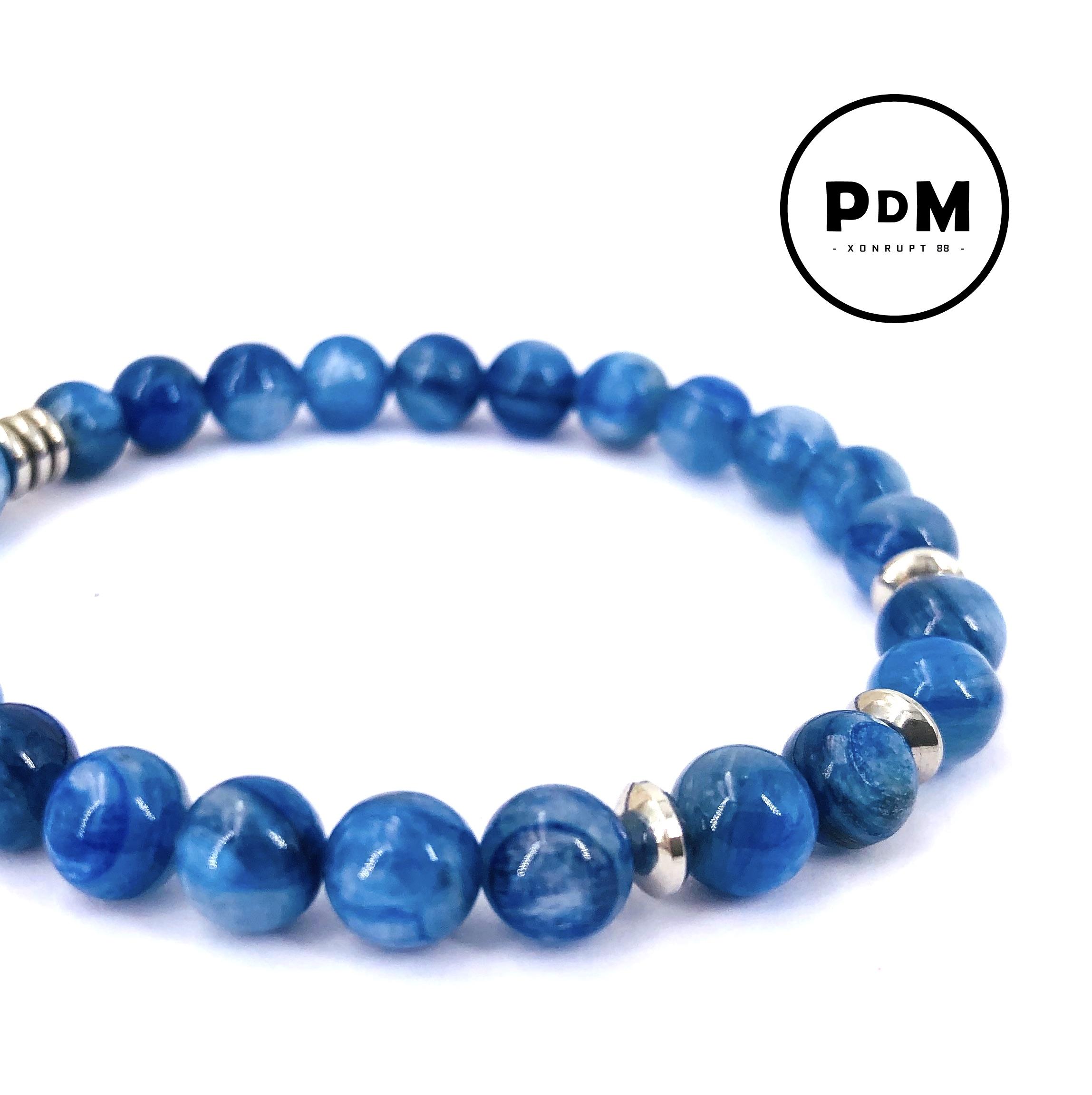 Bracelet de Cyanite en pierre naturelle perle 6mm