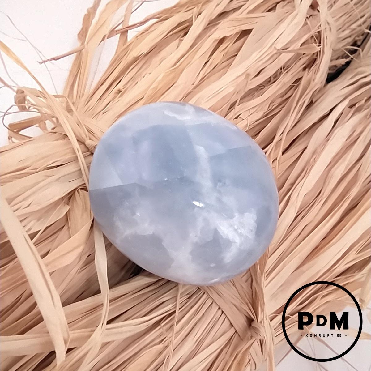 Galet de Calcite bleue en pierre naturelle