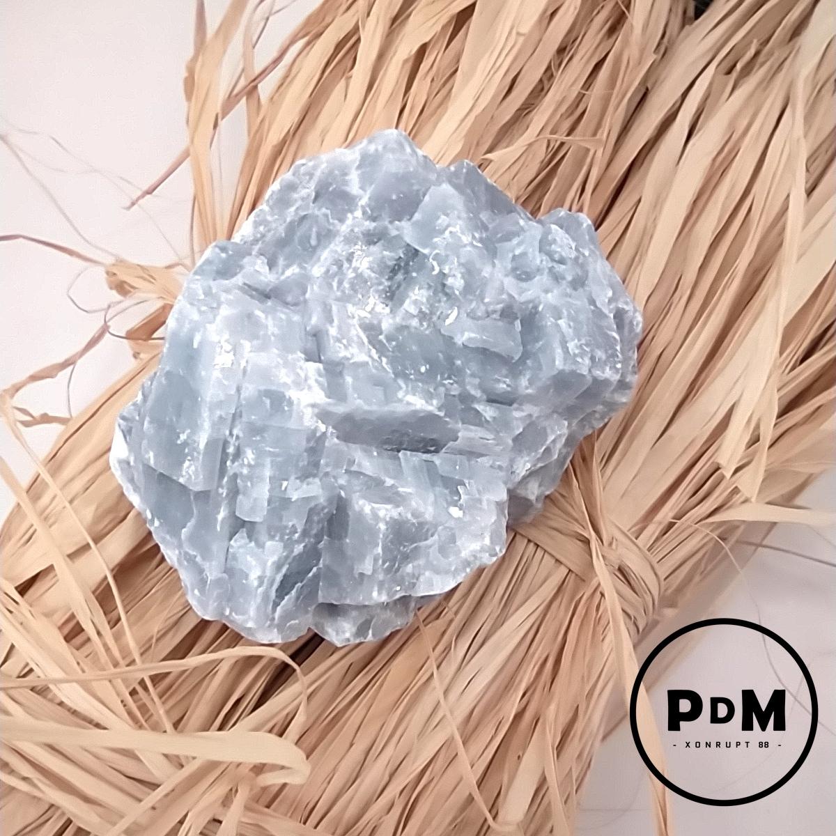 Calcite bleue brut en pierre naturelle