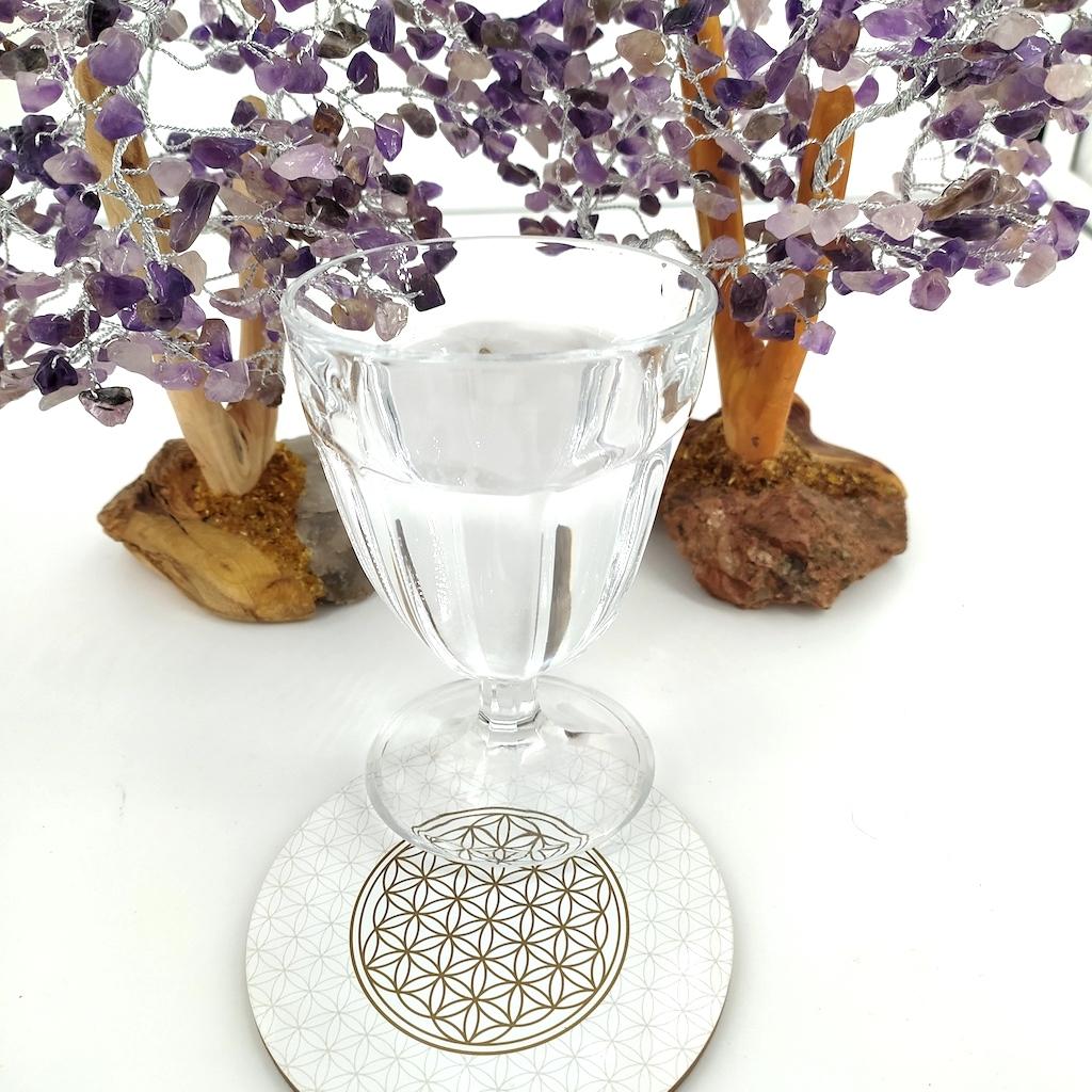 Dessous de verre dessin fleur de vie