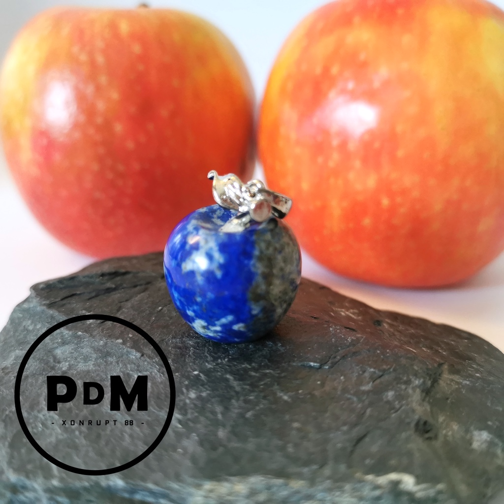 Pendentif Lapis-lazuli en pierre naturelle forme pomme