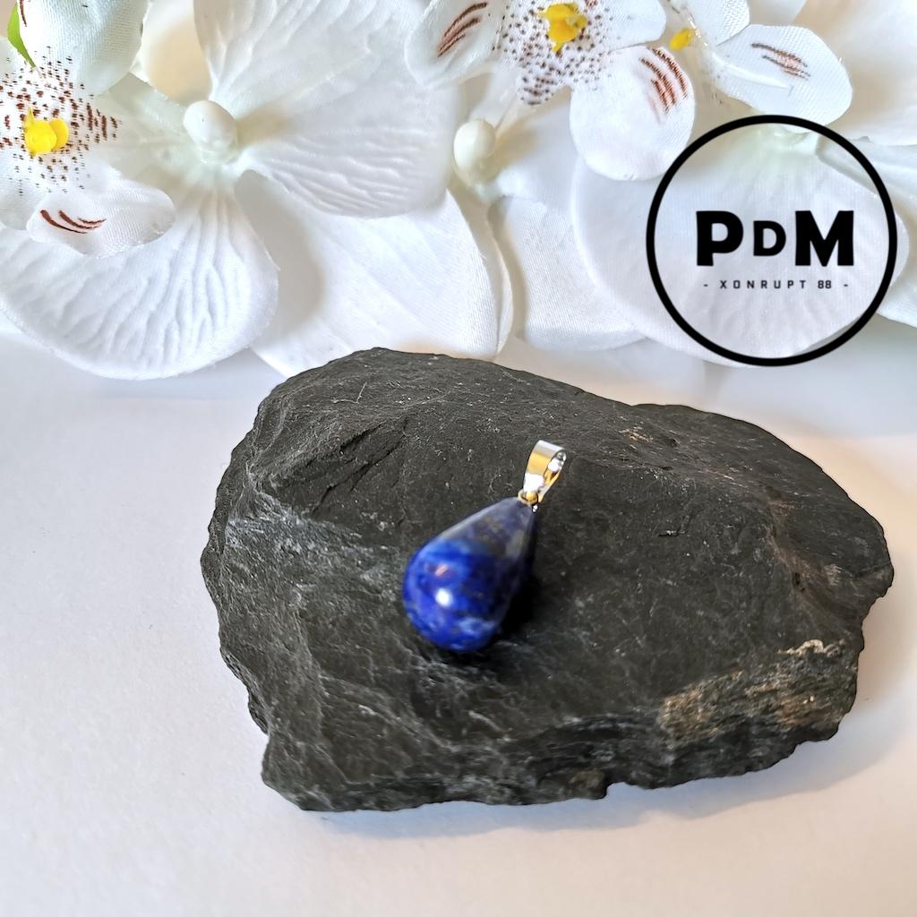 Pendentif Lapis-lazuli en pierre naturelle forme poire