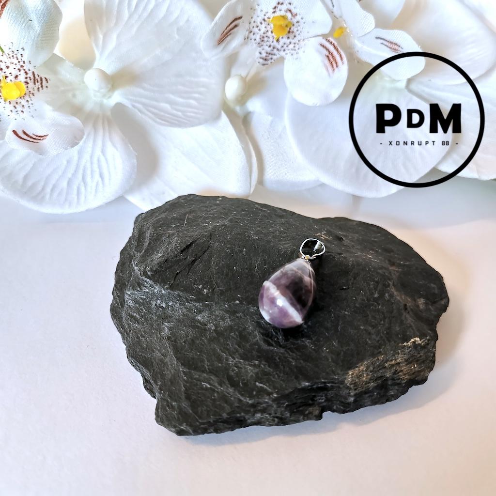 Pendentif Améthyste en pierre naturelle forme poire
