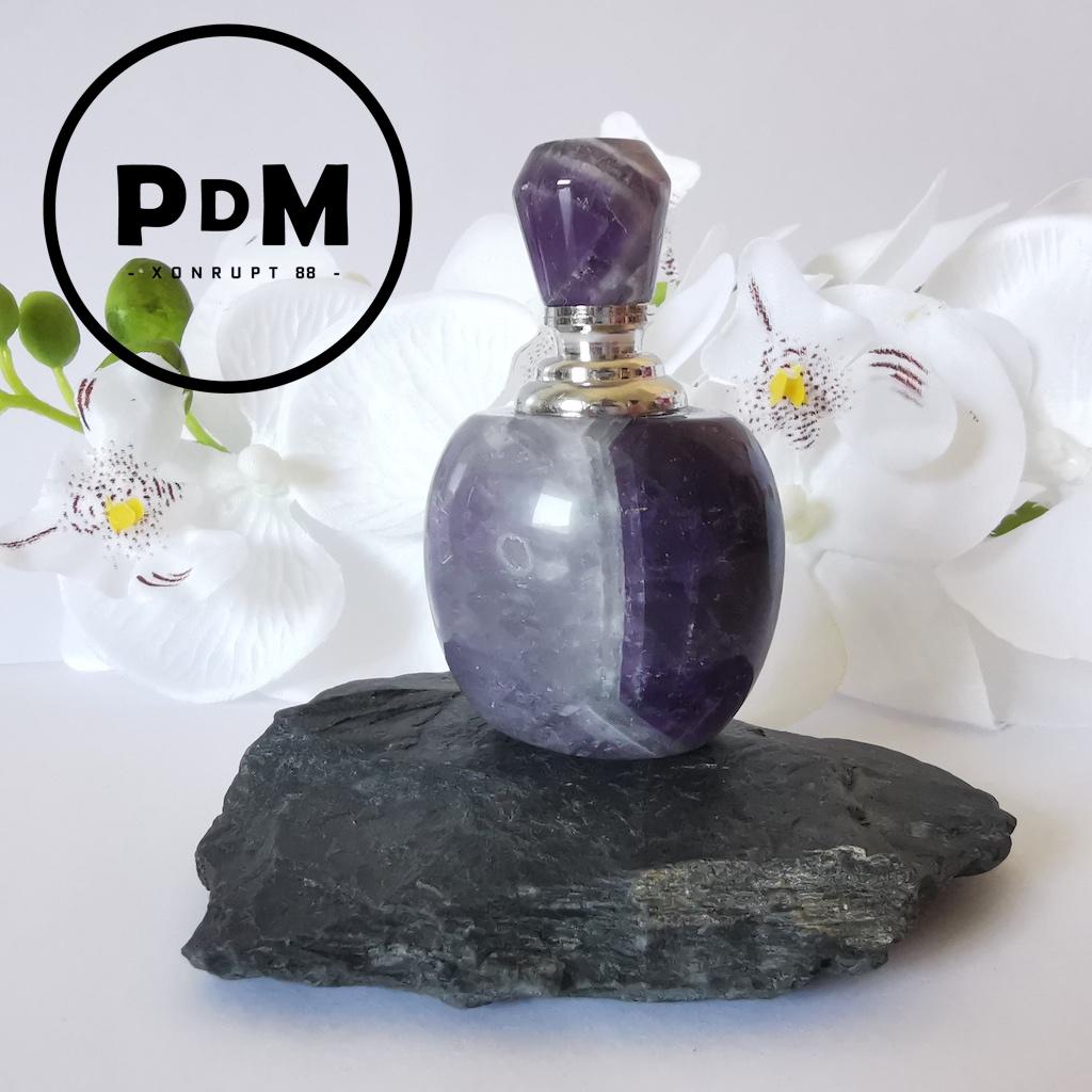 Bouteille de parfum Améthyste en pierre naturelle