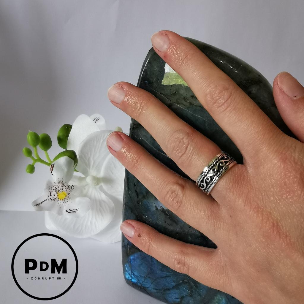 Bague anneau argent motif celtique gravé