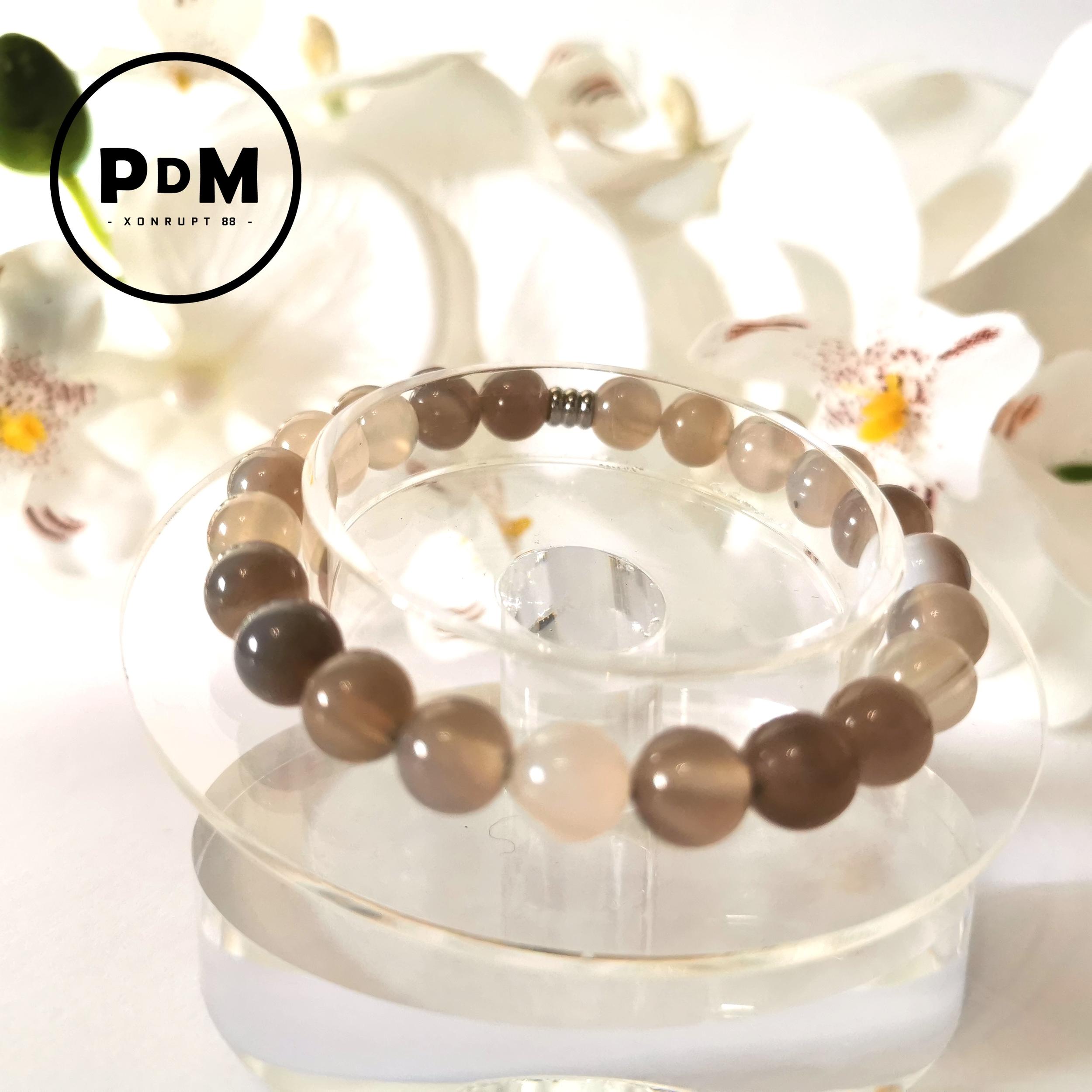 Bracelet Agate naturelle boule 8mm