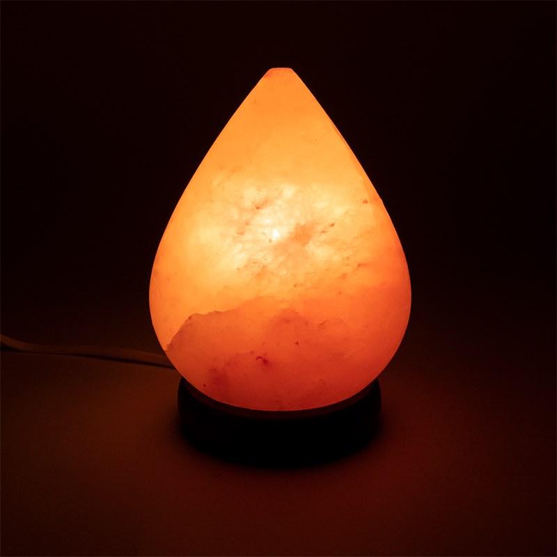 Lampe de sel l\'himalaya forme Goutte d\'eau env 2,5 - 3kg